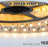 5050 indicatore luminoso di striscia di lumen della striscia 300LEDs/M del LED alto 14.4W/M