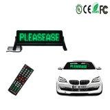 Segno verde della visualizzazione di Scrolling del segno LED dell'automobile del LED per la pubblicità di vetro del veicolo dell'automobile