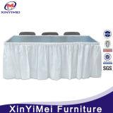 주문 설계하십시오 결혼식 회의 장방형에 의하여 주름을 잡은 폴리에스테 테이블 치마 (XYM-L57)를