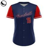 Botão Completo Desgaste desportivo com sobremedida Pinstripe Juventude Baseball Jersey por grosso