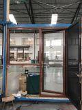 Doppelverglasung-kundenspezifisches plattiertes hölzernes Aluminiumfenster und Tür