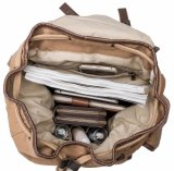 ロゴプリントが付いているキャンバスの綿のバックパック