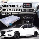Percorso di GPS dell'automobile del Android 6.0 per 2014-2018 la berlina di Mazda 3, video interfaccia