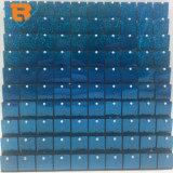 En el exterior de la luz brillante azul placas brillantes lentejuelas la decoración de pared
