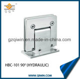 En la pared de cristal de acero inoxidable 304 Cristal de ducha hidráulica de montaje de bisagra (HBC-101)