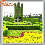 Decoração de paisagem Hedge Buxo Artificial Jardim Planta Buxo