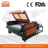 Machine laser à la fine pointe du tissu et au cuir avec dispositif d'alimentation automatique