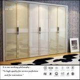 De hoge Glanzende Witte Garderobe van de Deur van de Kleur Open (FY564)