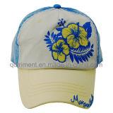 Помытая бейсбольная кепка спорта отдыха вышивки Twill хлопка (TM1119)
