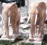 Marmorelefant-Skulptur