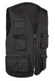 Тельняшка 100% Multipocket ворота дешевого халата хлопка высокая