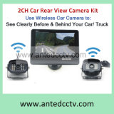 Vista trasera del coche inalámbrico de 2 cámaras con Monitor 7 pulgadas de pantalla LCD para la reserva de coche