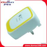 Заряжатель стены перемещения USB Великобритании 2 устройства вспомогательного оборудования мобильного телефона микро- быстрый