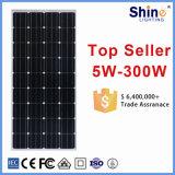 Panneau solaire monocristallin pour générateur solaire / système d'accueil avec garantie de 10 ans