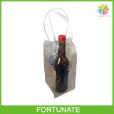 Sachet en plastique respectueux de l'environnement de refroidisseur de vin de sac de glace de PVC