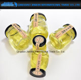 Envase de cristal de la miel del yogur del pudín con la tapa del tornillo de la hojalata