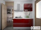 Красный УФ Modern Home Отель мебель из дерева острова кухня кабинет