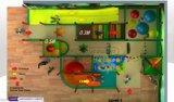 Оборудование спортивной площадки опирающийся на определённую тему малышей джунглей занятности Cheer крытое