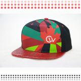Chapéu de basebol de couro feito sob encomenda do couro do tampão do Snapback do chapéu