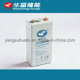 batería solar recargable de la batería 2V 200ah de la alta calidad 2V