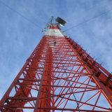 Fil galvanisé de transmission supportant la tour de WiFi de fil de Guyed