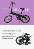 elektrisches Fahrrad 20 '' mini faltbares 250W/Fahrrad mit Lithium-Batterie