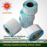 U2cmark Hot papel térmico autoadhesivo etiqueta para la impresión (TPL-018)