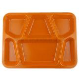 Bandeja de refeição de melamina com compartimento de 15,5 polegadas 6 (TR088)