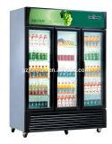冷やされていた縦の飲料の飲み物の飾り戸棚