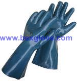 Перчатка голубого нитрила промышленная