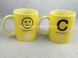 Amarillo taza, taza de promoción de 11oz.