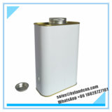 1liter металлическое олово Can_Container_ с крышкой винта металла