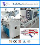 Linha de extrusão de tubo de PVC / Máquina de fabricação de tubos de PVC / Extrusora de parafuso duplo cônico com tubo de PVC