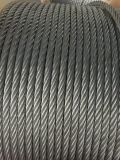Elec Galv DIN3060 6X19 + FC/Iws/Iwrc 철강선 밧줄