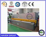 Máquina de corte da guilhotina hidráulica do metal para a placa de aço