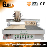 Proceso de múltiples máquina de grabado de madera de varias Workstage router CNC Atc
