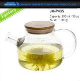 caldaia di tè di vetro senza piombo 400-1200ml con il filtro di vetro