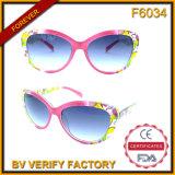 F6034 de Valse Manier Sunlgasses van de Stijl van de Dames van de Frames van de Ontwerper Plastic