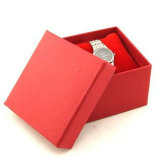 Le transport en cuir de papier de montre protègent le cadre de mémoire de cadeau d'étalage de caisse d'emballage avec le palier (Lrw018)