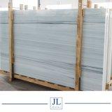 Blanc pur couleur jaune/bleu/veines Nano cristallise la façade de verre pour Coutertop/Tuiles Tuiles mur/dalle