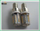 높은 광도 LED 빛을%s 가진 E12 실리콘 LED 전구 2W AC/DC12V