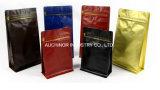 錫のタイが付いているカスタム印刷ホイルの袋の側面のガセットのアルミホイルのコーヒーバッグ