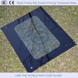 6 - 10mm Black Frame Silk Screen Printing Tempered Glass, Glass Shelves
