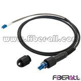 Pdlc-LC de cordon de raccordement duplex loin de la transmission cavalier fibre optique
