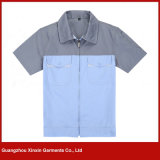 Fornecedor uniforme de trabalho dos vestuários da boa qualidade do algodão (W148)