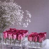 Premier empaquetage en gros de fleur de Rose 16 Rose de l'acrylique 9 de grand dos de pente