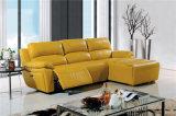 Recliner-lederne Sofa-Sets für L Form-Wohnzimmer verwendet