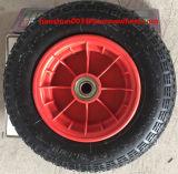 350-7手押し車のためのプラスチック縁が付いている空気の車輪