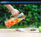 タケふたが付いている滴り自由で明確なガラス水ジュースの水差し