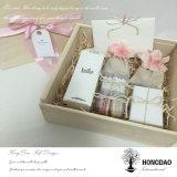 Verpakkende Doos van de Gift van Kerstmis van de Douane van Hongdao de Houten met Douane Logo_D